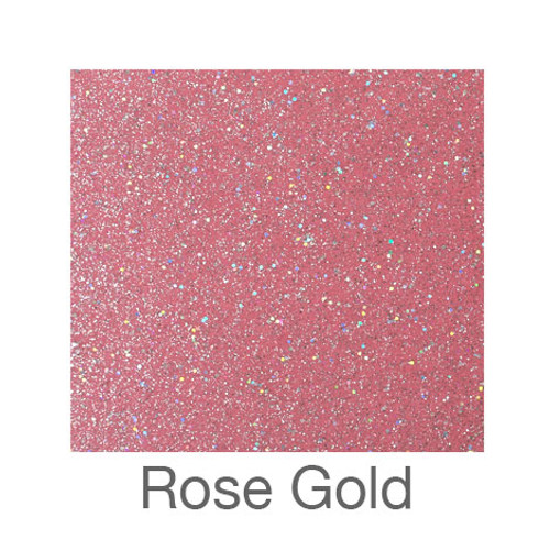 "Glitter Adhesive Vinyl-12""x24""-Rose Gold"