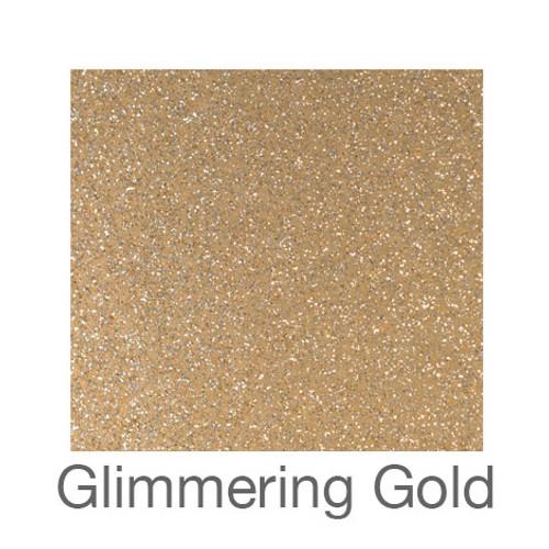 "Glitter Adhesive Vinyl-12""x24""- Glimmering Gold"