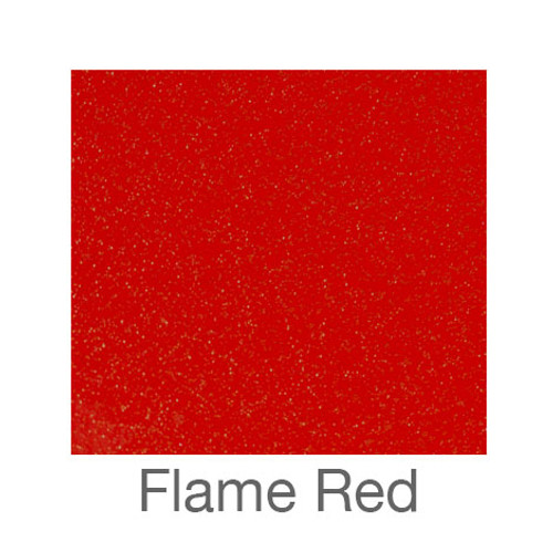 "Glitter Adhesive Vinyl-12""x24""- Flame Red"