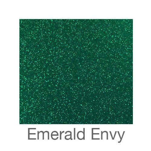 "Glitter Adhesive Vinyl-12""x24""- Emerald Envy"
