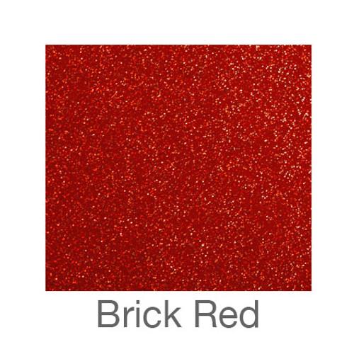 """Glitter Adhesive Vinyl-12""""x24""""- Brick Red"""