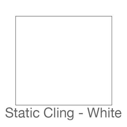 "Static Cling -12""x24""-White"