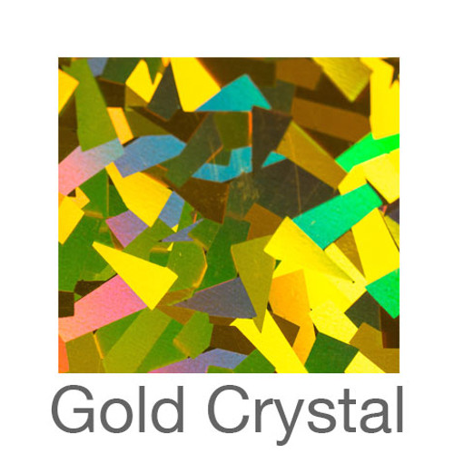 """Holographic-9""""x12""""-Gold Crystal"""
