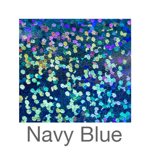 """Holographic-12""""x20""""-Navy Blue"""