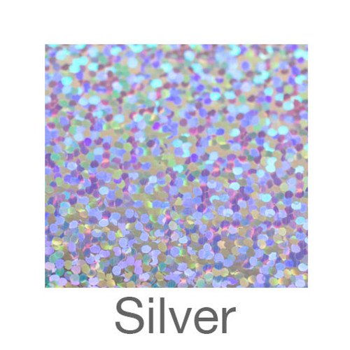 """Holographic-12""""x20""""-Silver"""
