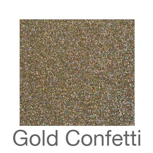 "Glitter -12""x5ft. Roll-Gold Confetti"