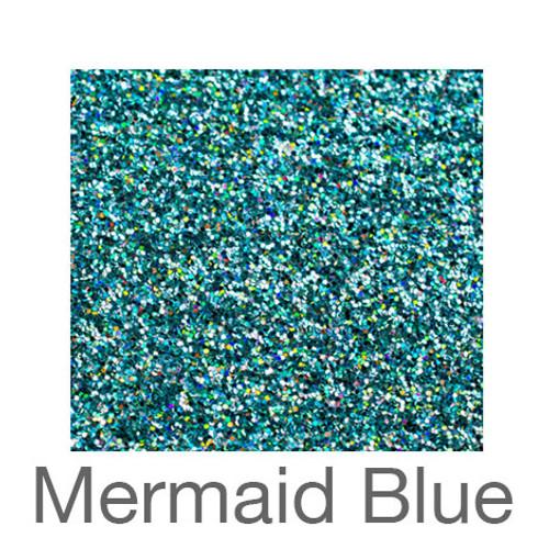 """Glitter -12""""x5ft. Roll-Mermaid Blue"""