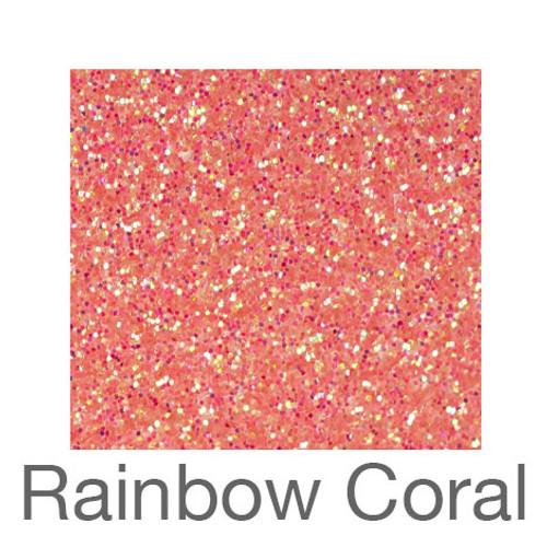 """Glitter -12""""x5ft. Roll-Rainbow Coral"""