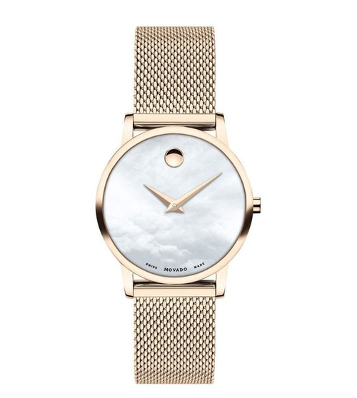 28MM Museum Classic Quartz Movement Mother Of Pearl Women's Movado Watch