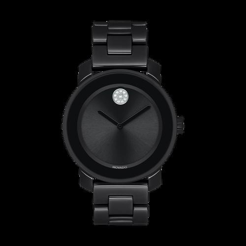 36MM Black Ceramic Bold Movado Women's Watch