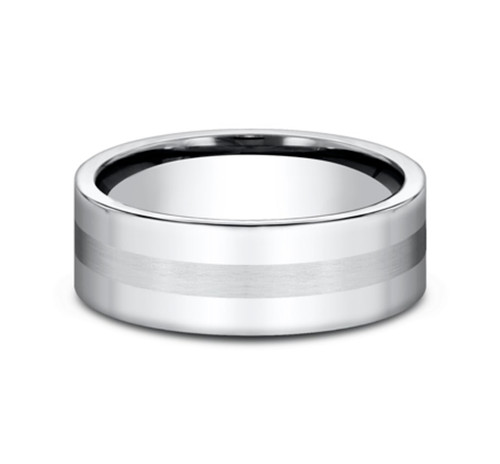 7.50mm Cobalt Center Line Satin Finish Wedding Ring