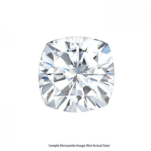 Gage Select Cushion Cut Near Colorless Moissanite 6.5mm (1.30 CT. DEW)
