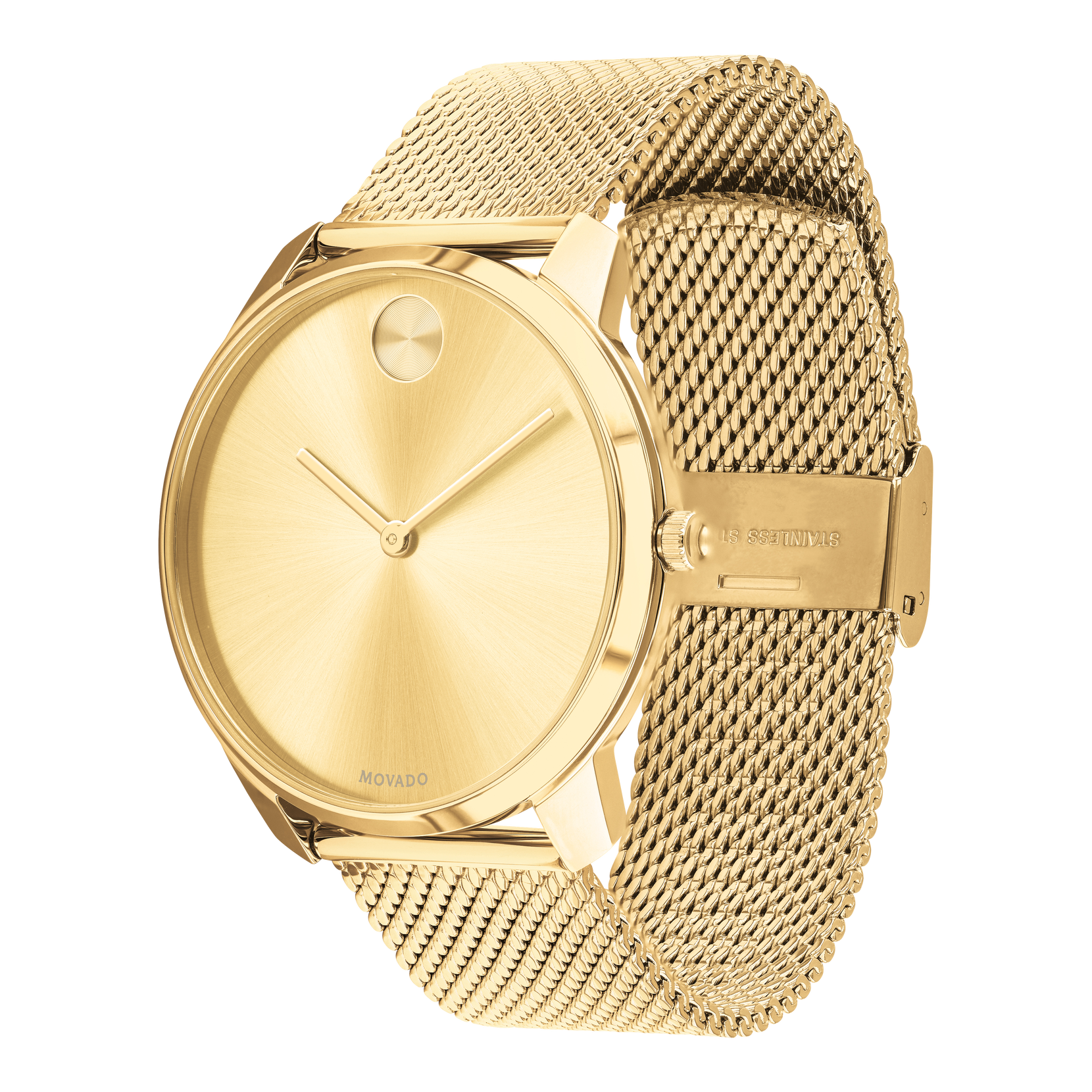 42MM Movado Gold Bold Thin Men's Watch