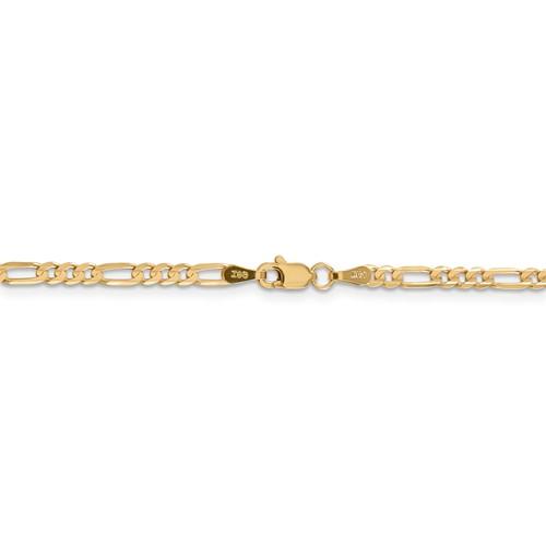 Genevieve 14K Yellow Gold Figaro Chain Bracelet
