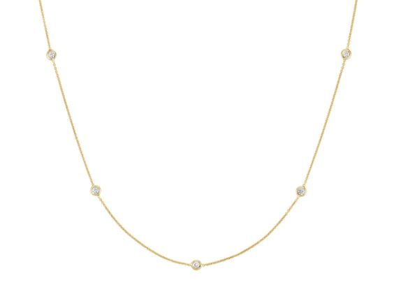 Alexia Diamond Bezel Set Necklace (0.50CT)