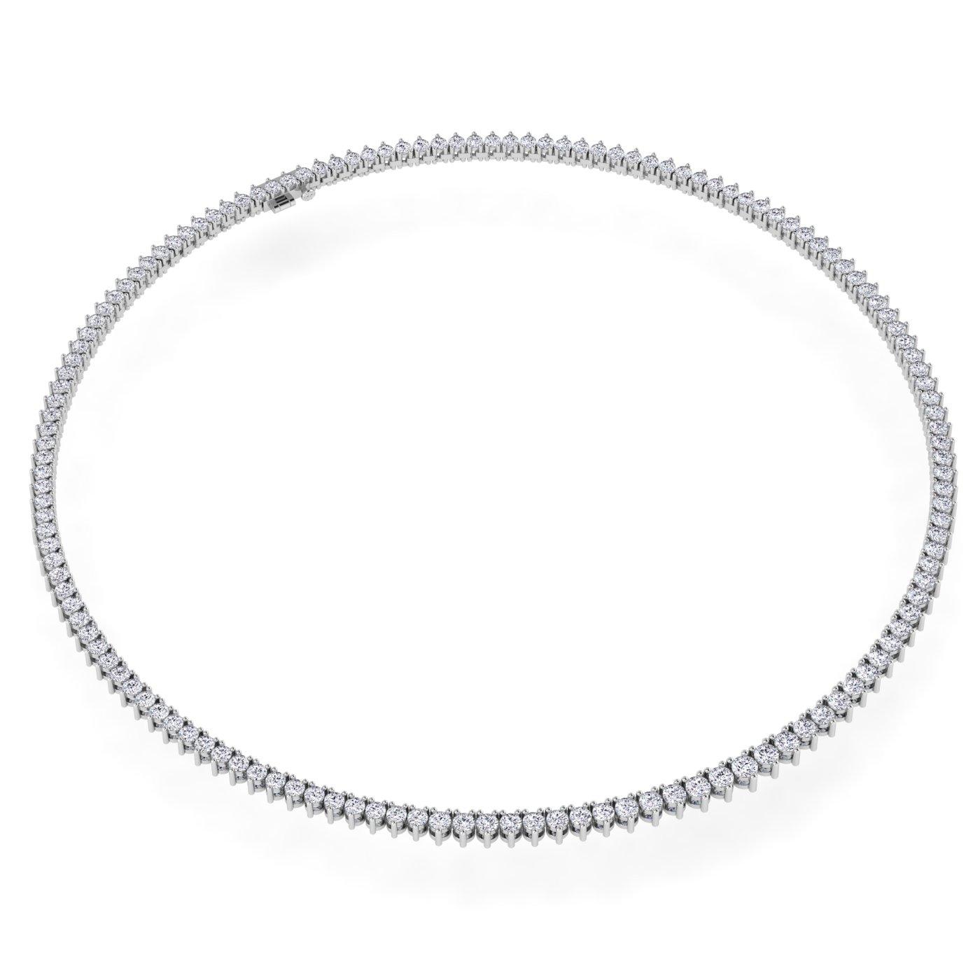 14K White Gold Lab Grown Diamond Tennis Necklace (10.48 TCW)
