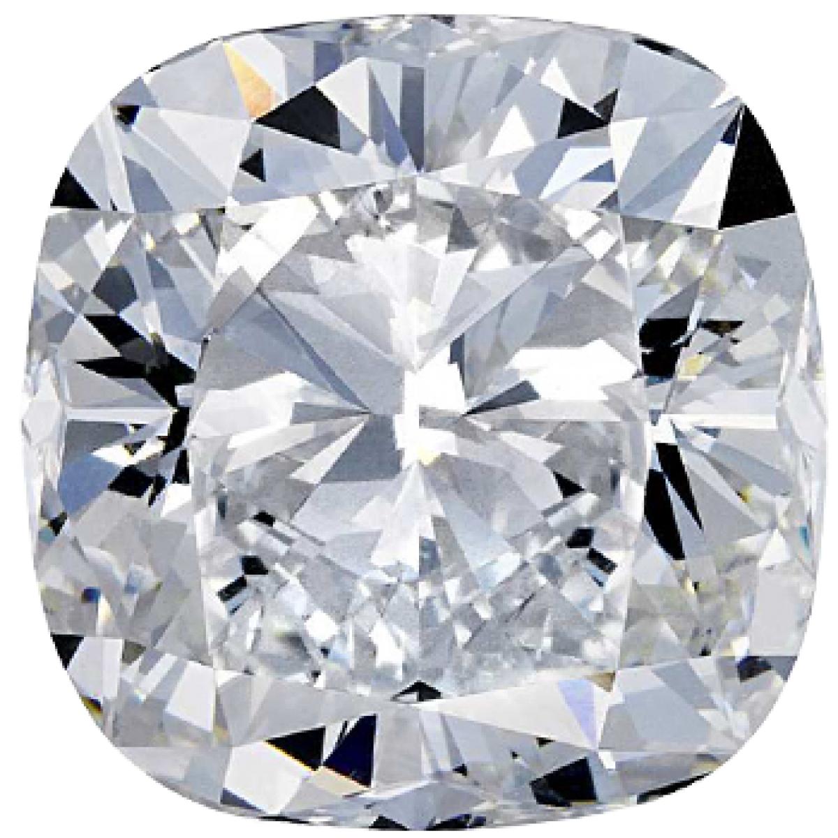0.70CT Cushion F SI1 Lab Grown Diamond 0206
