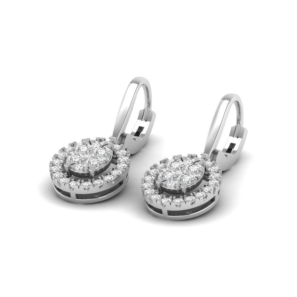 Zoe Oval Cluster Lab Grown Diamond Drop Earrings (1.25 TCW)