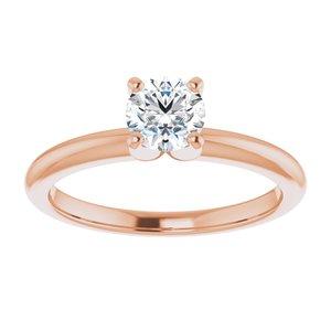 Ava 14K Rose Gold Round Lab Grown Diamond Bridal Set