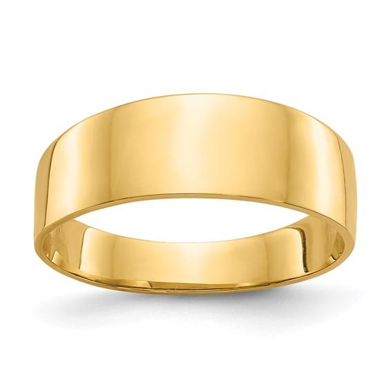 Ivy 14K Yellow Gold Cigar Band Ring