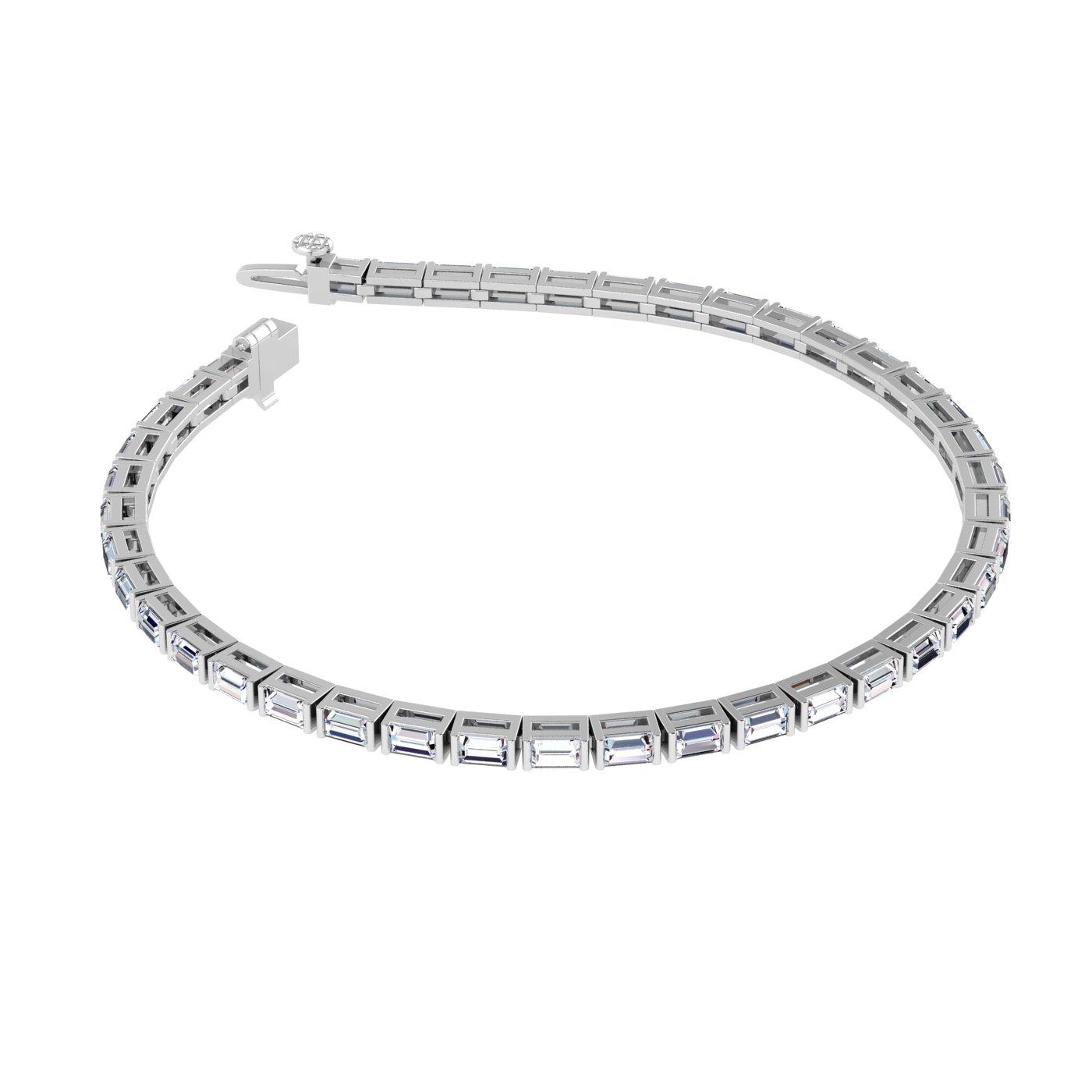 Brooke 14K White Gold Lab Grown Diamond Baguette Tennis Bracelet (2 1/2 TCW)