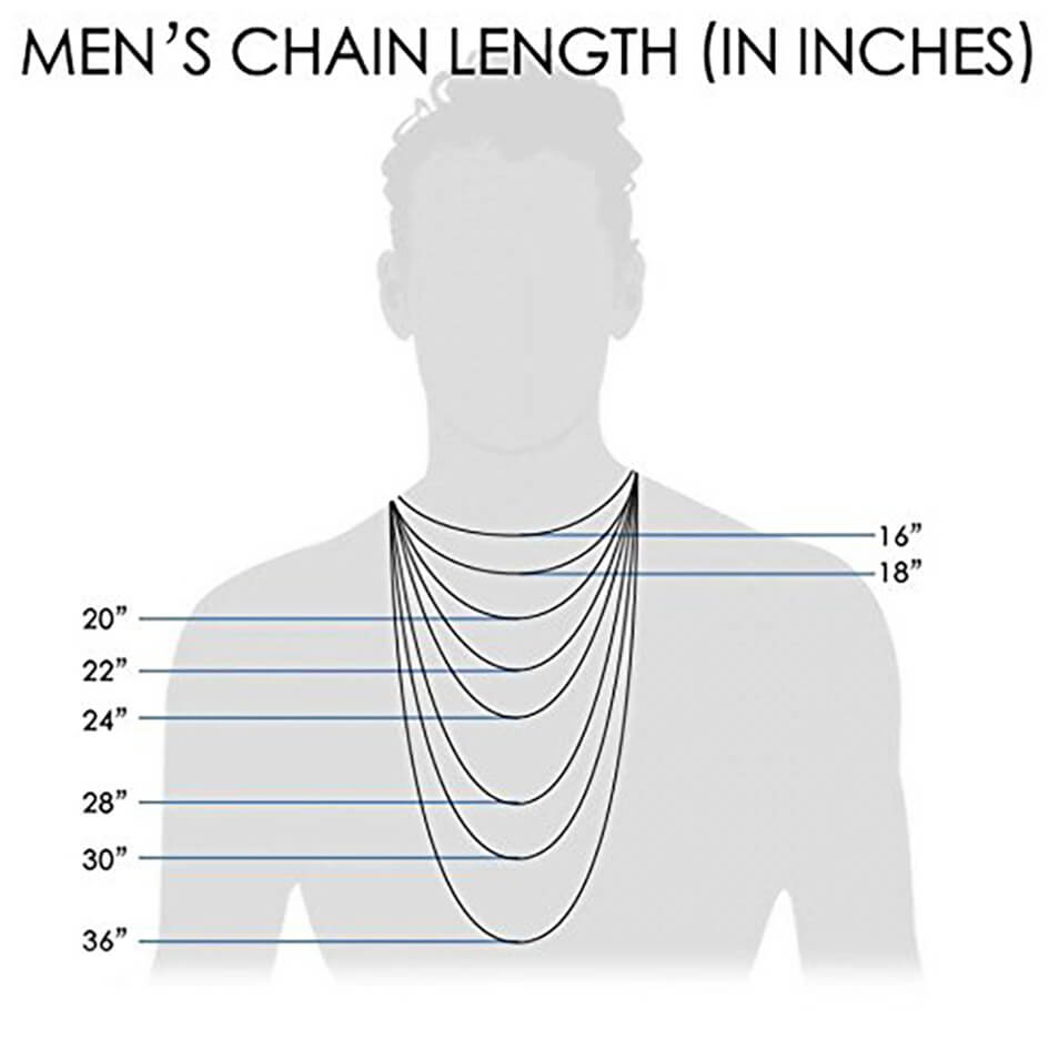 Men's 4.0mm 14K White Gold Rope Chain