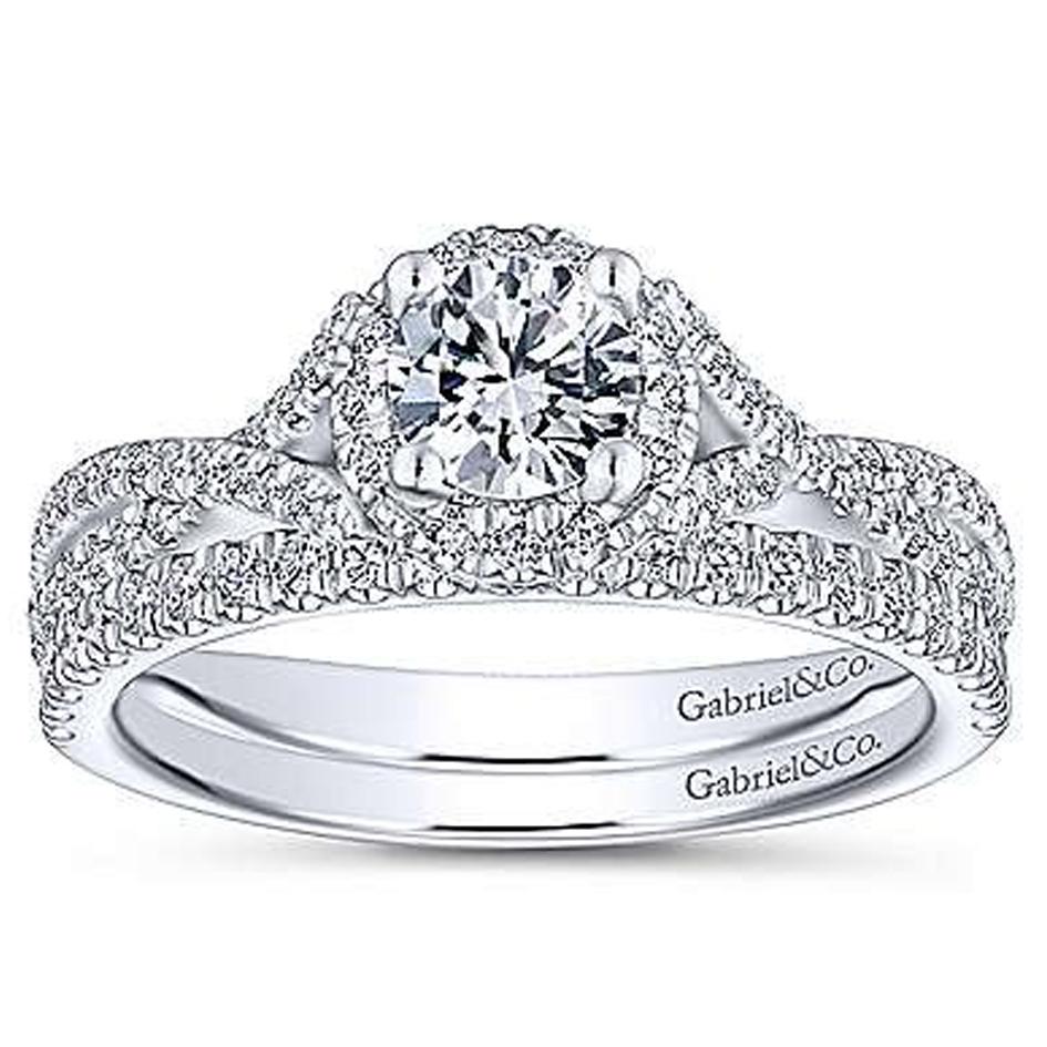 Aileen Preset Round Diamond Matching Bridal Set (0.77 TCW)