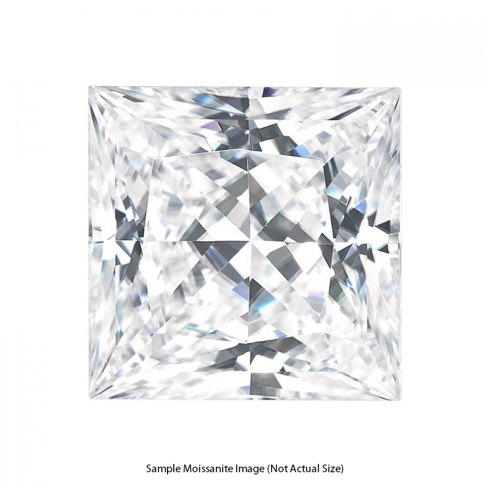 Gage Select Princess Cut Near Colorless Moissanite 6.5mm (1.50 CT. DEW)