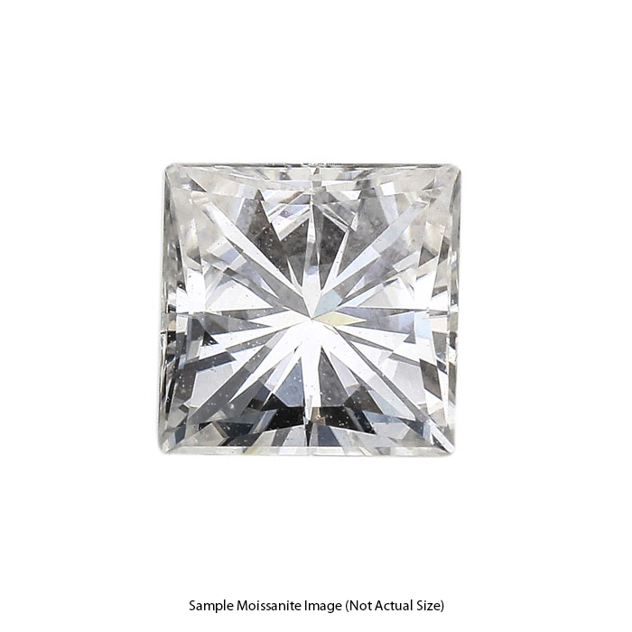 Gage Select Princess Cut Near Colorless Moissanite 7.0mm (1.92 CT. DEW)