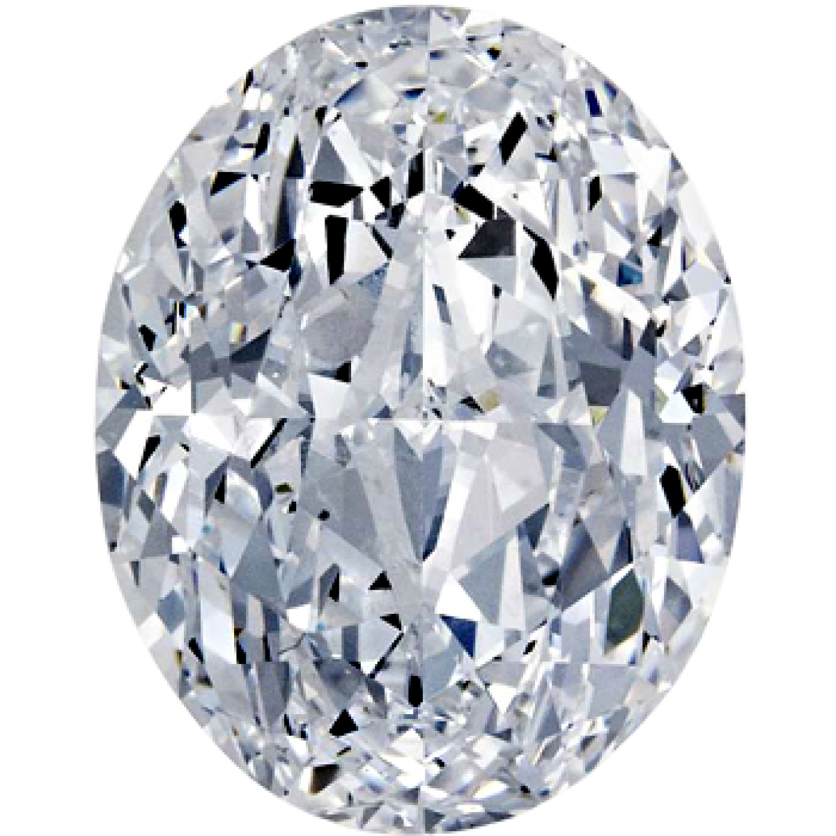 0.72 Carat F VS2 Oval Cut Lab Grown Diamond 6107