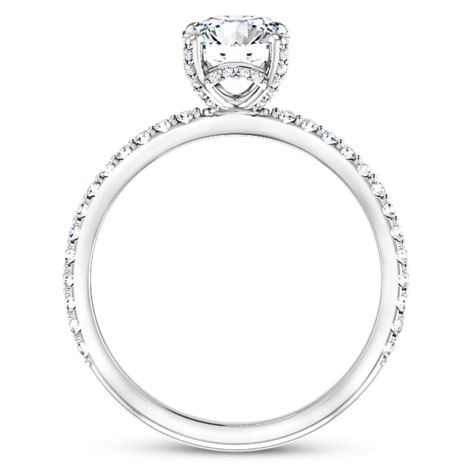 Remi Hidden Halo Diamond Engagement Ring