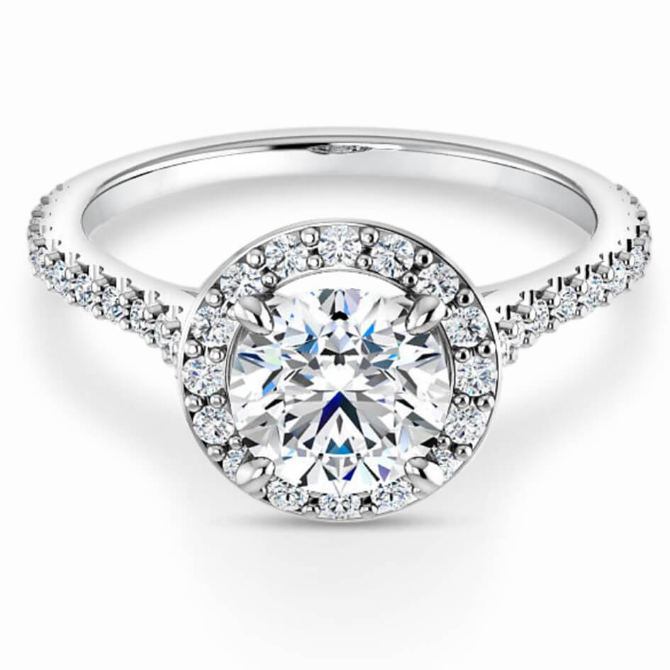 Melanie Halo Diamond Engagement Ring