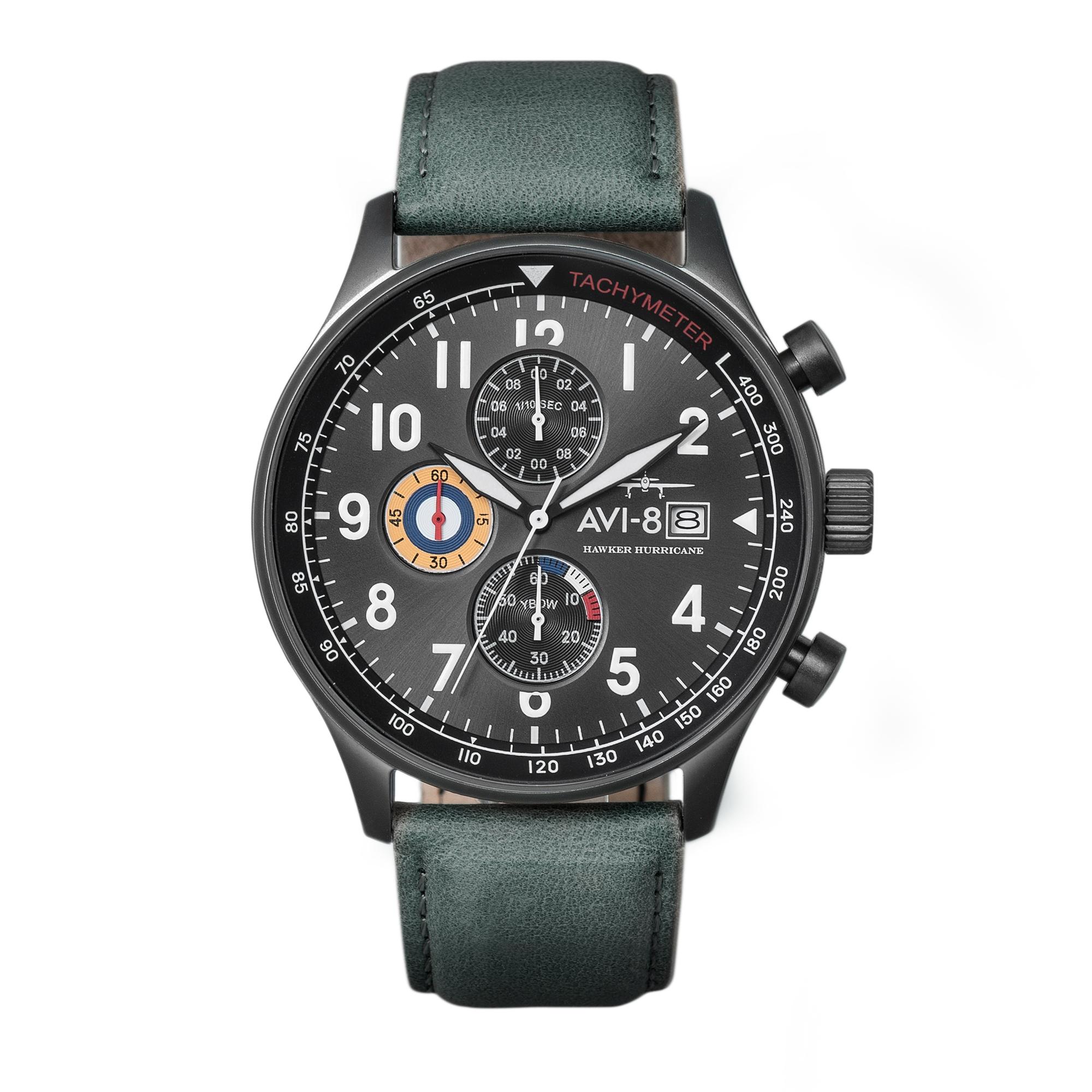 42MM Men's Hawker Hurricane Men's AVI-8 Military Green Watch
