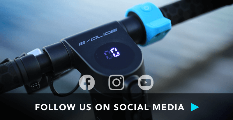 follow e-glide electric scooters on social media