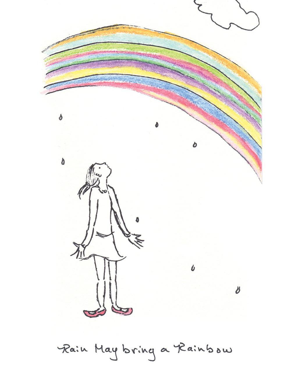 "Rain May Bring a Rainbow (9""x11"" Print)"