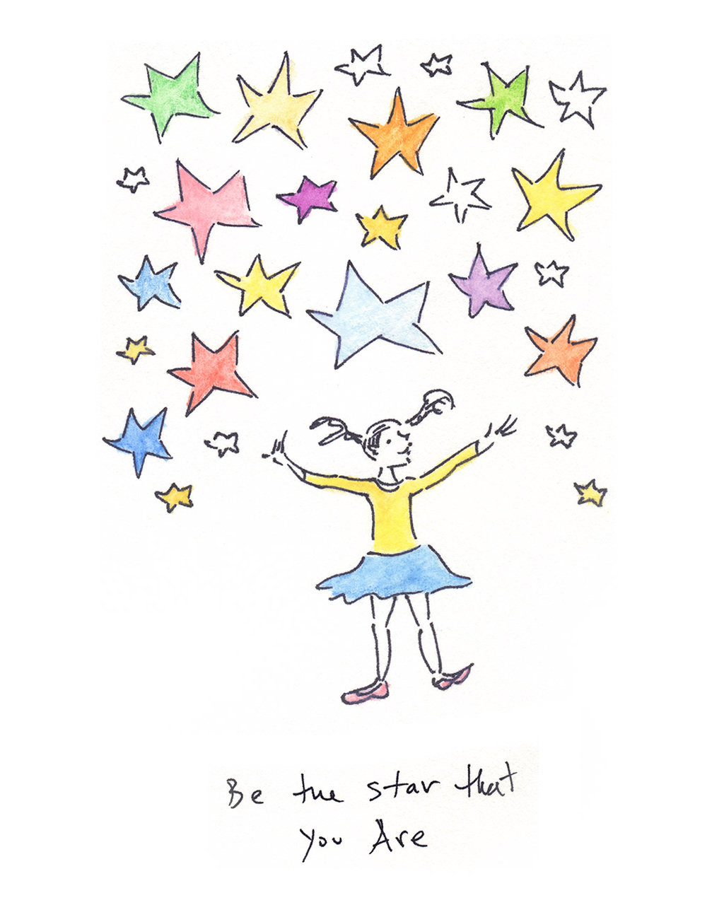 """Be the Star That You Are (13""""x16"""" Print)"""