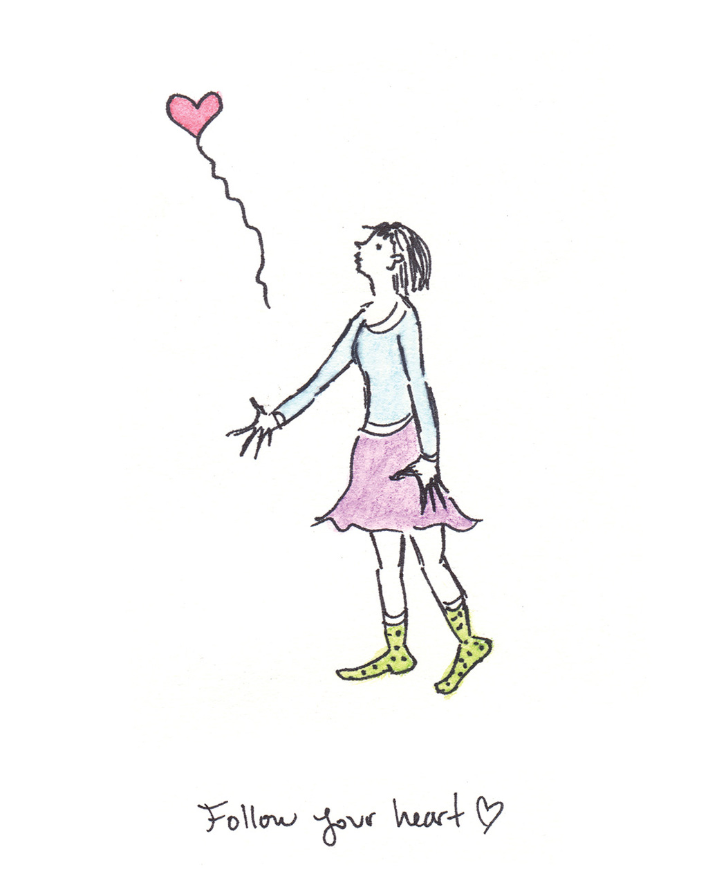 "Follow Your Heart (13""x16"" Print)"