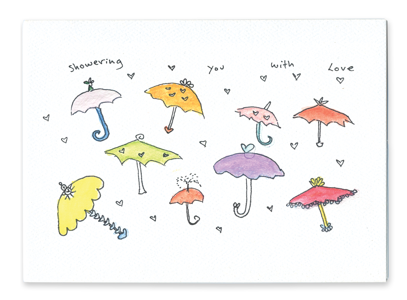 Showering You With Love (Umbrellas & Hearts)