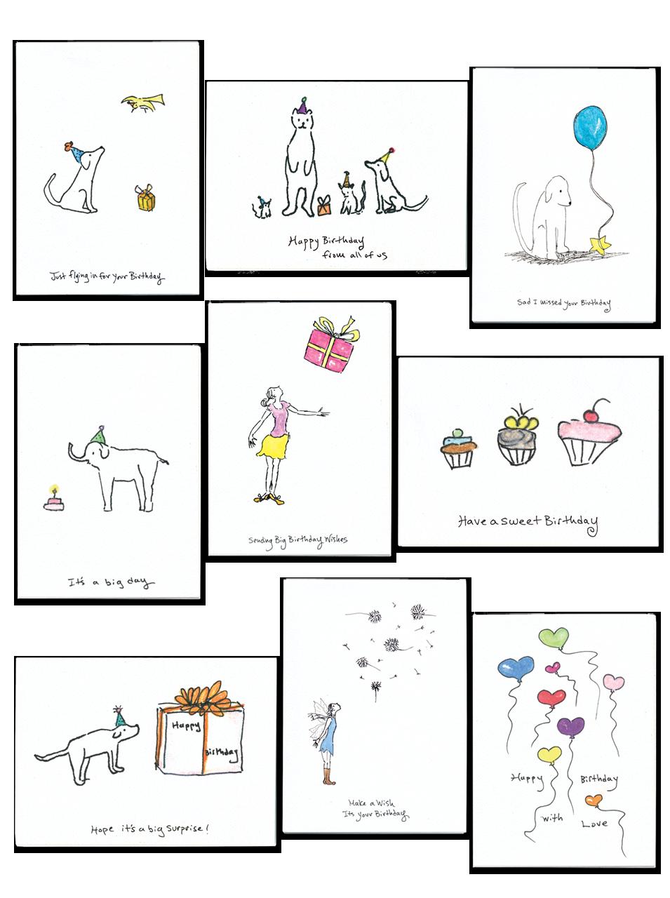 Rosie's Wonders birthday greeting card pack
