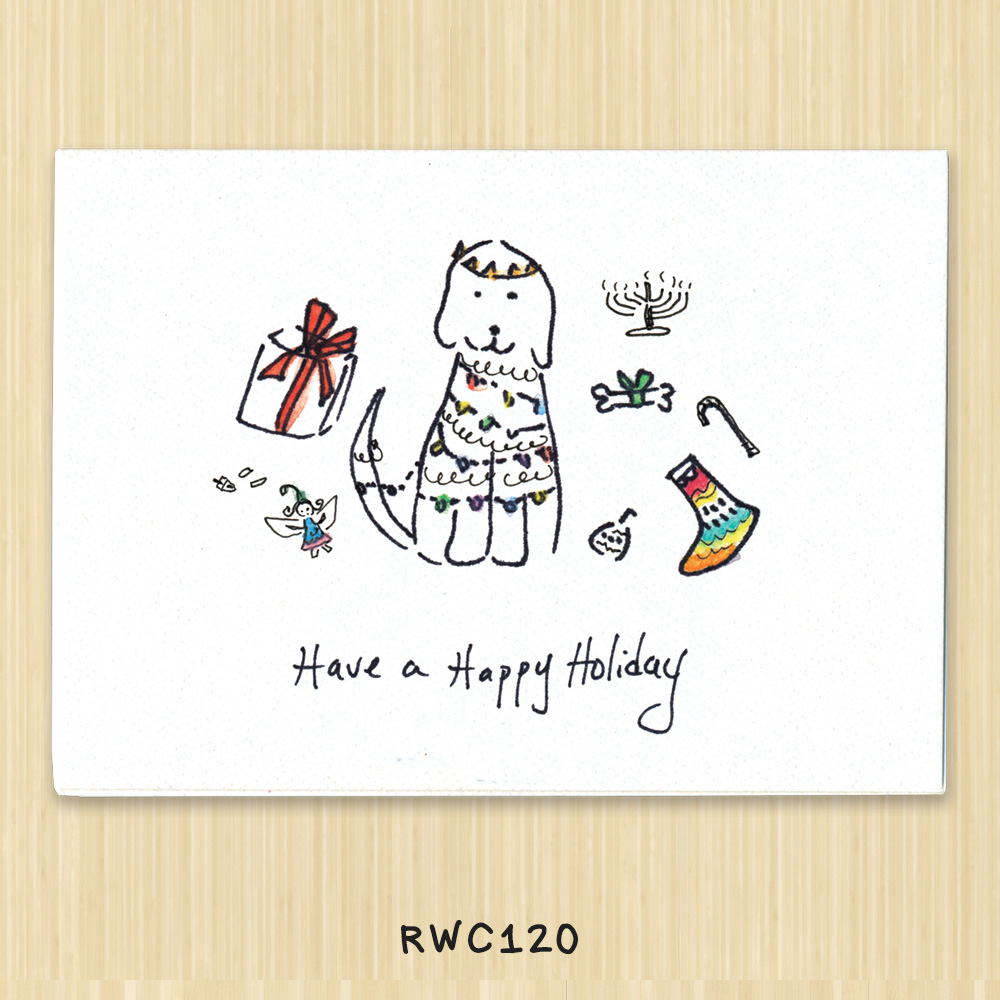 Cat and Kitten holiday card