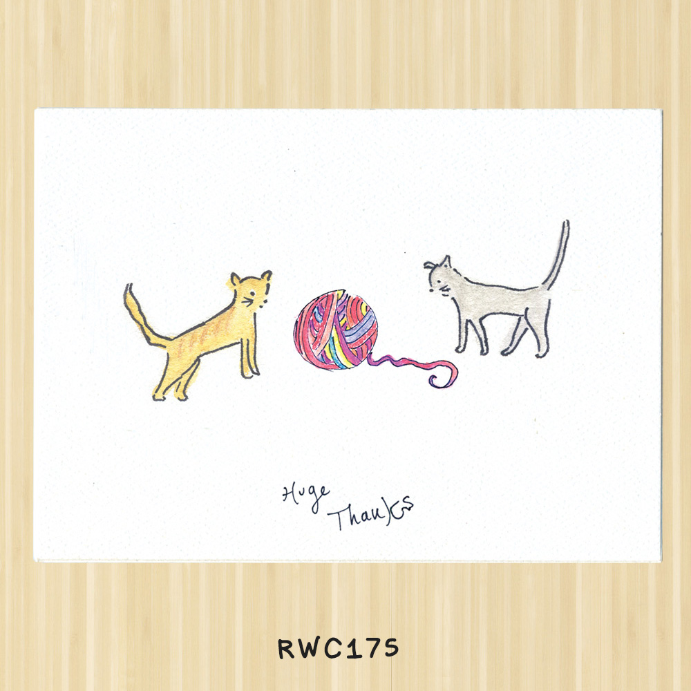 cat gratitude card for veterinarians