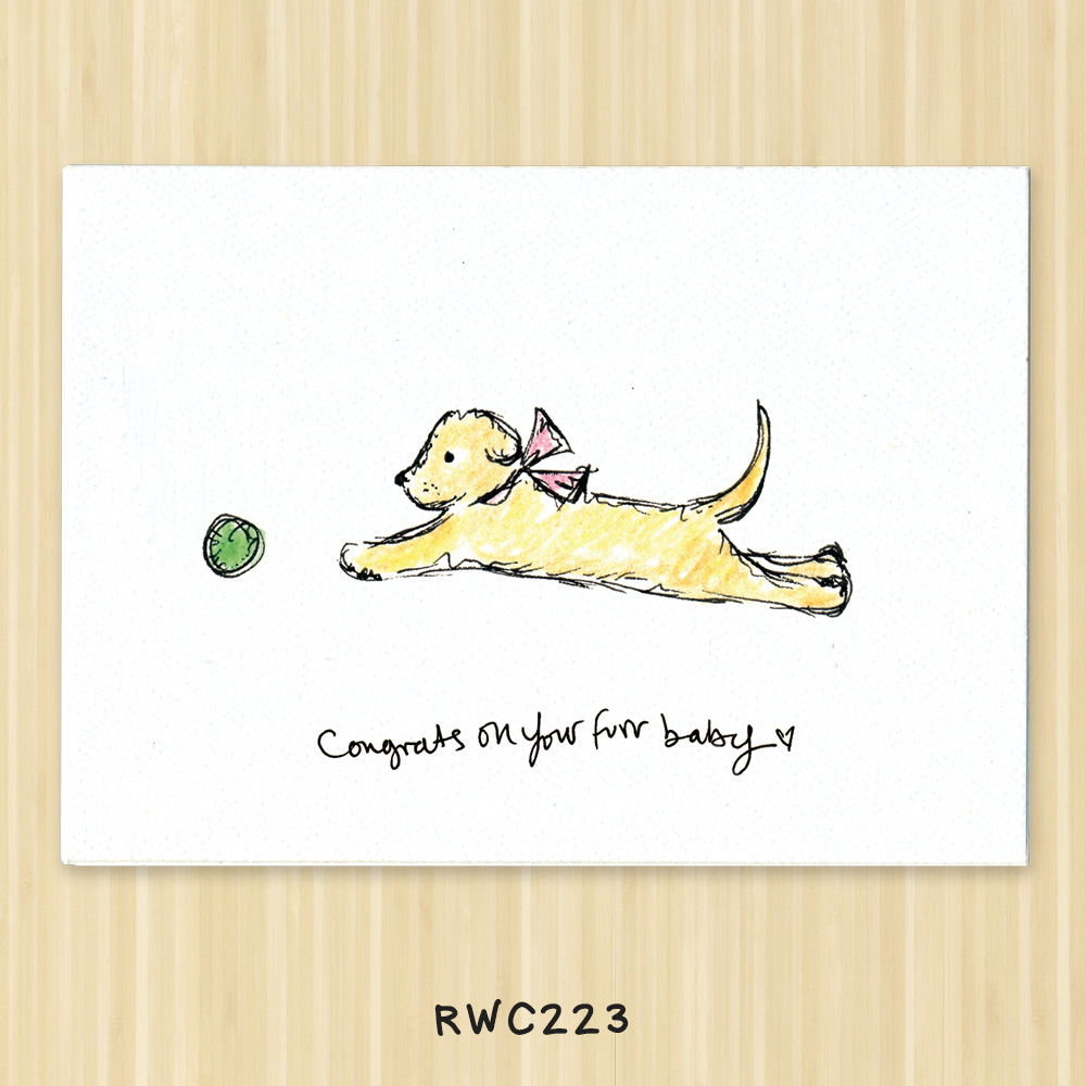 dog congratulations card