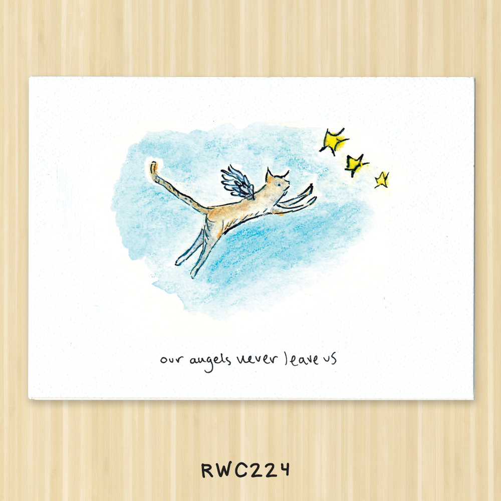 cat angel greeting card for vets, animal hospitals