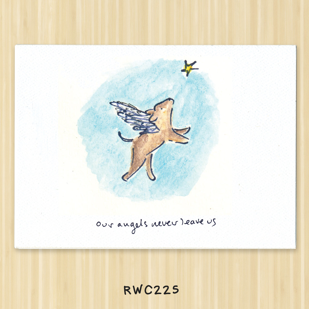 dog angel greeting card for vets, animal shelters