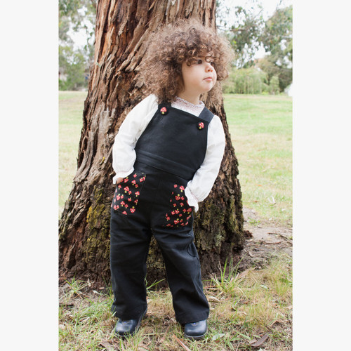 Ariella Tailored Toadstool Overalls - Model