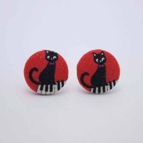 Ariella Cat Piano Earrings