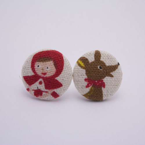 Ariella Red Riding Hood & The Wolf Earrings