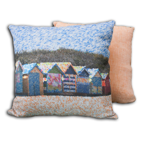 Ariella Beach Huts Cushion