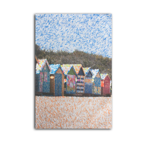 Ariella Beach Huts Tea Towel