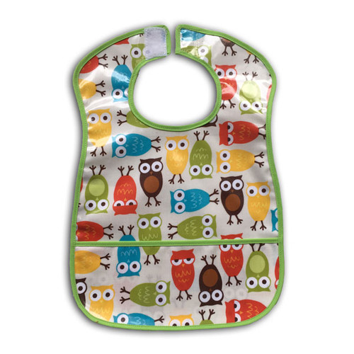 Ariella Handmade Waterproof Owls Feeding Bib
